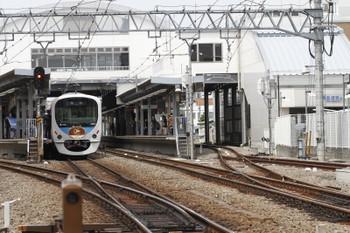 2015年4月12日 11時28分頃、東長崎、2番ホームに停車中の30101Fの開業100周年記念臨時列車。