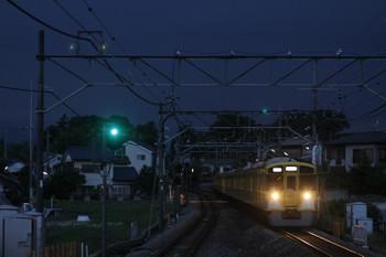 2015年6月20日 19時9分ころ、元加治、9107Fの上り回送列車。