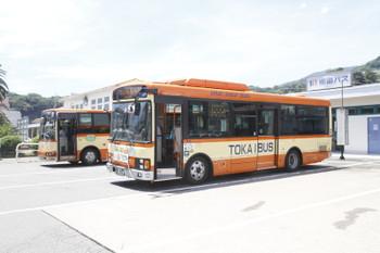 2015年7月25日 11時35分ころ、伊東駅前、修善寺ゆき東海バス。