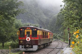 2015年8月30日、神土、発車した「トロッコわっしー2号」。