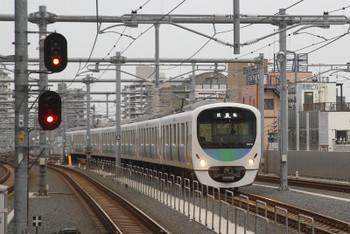 2015年9月16日 16時39分頃、石神井公園、2番ホームへ到着する38116F下り試運転列車。