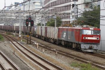 2015年10月18日 12時2分頃、池袋、EH500-55牽引の南行コンテナ貨物列車。
