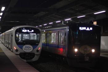 2016年1月5日、江古田、38116Fの5204レ(左)と20151Fの5407レ。