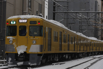 2016年1月18日 7時53分頃、高田馬場~下落合、2連+2081Fの準急 西武新宿ゆき。