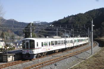 2016年1月16日 11時21分頃、吾野、通過する4015Fの下り臨時列車。