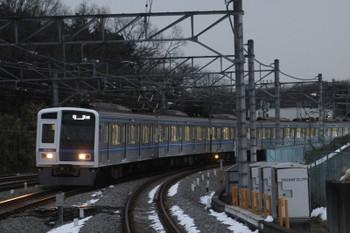 2016年1月23日 16時55分頃、入間市、6111Fの下り回送列車。