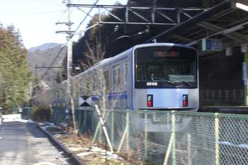 2016年1月31日 10時13分頃、西吾野、1番ホームを通過する20158Fの下り回送。