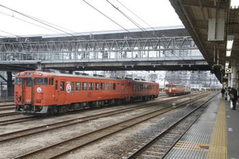 2016年3月13日、宇都宮、烏山線のキハ40系4両。
