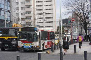 2016年3月18日 12時半頃、高田馬場駅近くの新目白通り。