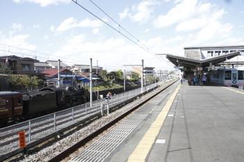 2016年4月17日 14時29分頃、西武秩父、熊谷ゆきSL列車と4009F。