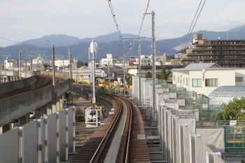 2016年7月10日、福井口~新福井、上り列車の最後尾から。