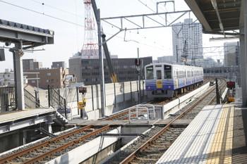 2016年7月11日、新福井、福井ゆき列車が発車した後。