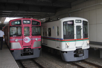 2016年7月16日、所沢、9101Fの4206レと4019F+4013Fの1001レ。