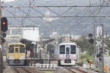 2016年7月17日、元加治、2073Fの5106レと4009F下り列車。