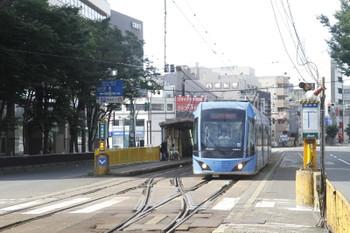2016年7月10日 8時0分頃、市役所前、F1002編成の福大前西福井ゆき。
