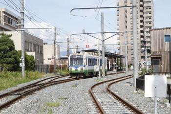 2016年7月10日 15時4分頃、田原町、鷲塚針原から到着した773ほかの急行 越前武生ゆき。