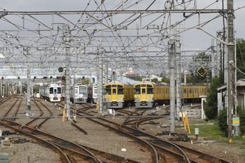 2016年8月7日 7時20分頃、保谷、4009Fの上り回送列車。