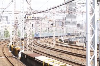 2016年9月9日 13時13分頃、春日野道、甲種車両輸送中の西武40000系。JRとしては三ノ宮~灘駅間。
