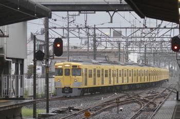 2016年8月20日 11時30分頃、新所沢、1番ホームから発車した2007Fの下り臨時列車。