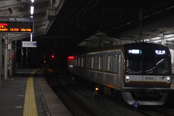 2016年9月29日 19時0分頃、西所沢、14M運用の4590レ(西所沢18時55分発)をメトロ10003Fが代走。
