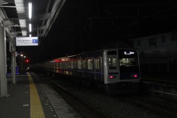 2016年11月4日 17時46分、西所沢、1番ホームから発車した6113Fの13M・上り回送列車。