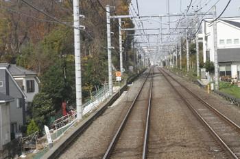 2016年12月4日、東久留米~清瀬駅間、速度制限が続いていた豪雨被害区間。