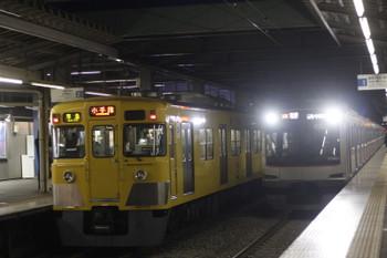 2017年1月16日、東久留米、2413F+2055Fの4227レと東急車5050系の6714レ。