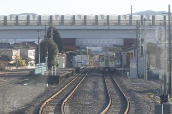 2016年12月28日 14時51分頃、群馬藤岡、238Dの到着を待つ試運転列車。