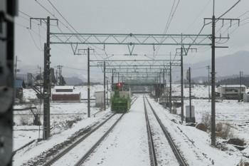 2016年12月28日 11時23分頃、浦佐~五日町間?、1732Mとすれ違った除雪車。