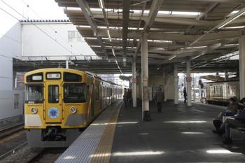 2017年1月22日 13時19分ころ、所沢、4303レで到着した9102Fが下り回送で発車。