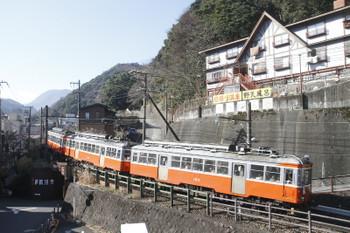 2017年1月4日 11時37分、箱根湯本、103ほかの3両編成。
