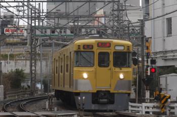 2017年2月6日、高田馬場~下落合、2323レ。