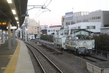 2017年2月12日、東長崎、4番ホームから飯能方を撮影。