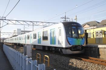 2017年1月21日 15時18分頃、元加治、40101Fの下り試運転列車が停車。