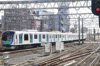 2017年1月21日 12時47分頃、所沢、6番線から発車した40101Fの下り試運転列車。