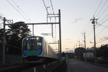 2017年1月22日 16時58分頃、稲荷山公園~入間市、40101Fの上り試運転列車。