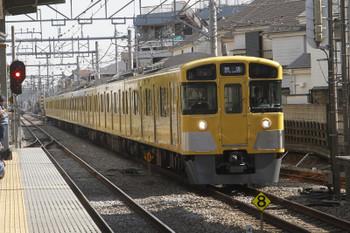 2017年2月25日 12時53分、ひばりヶ丘、2番ホームを通過する2073Fの下り回送列車。