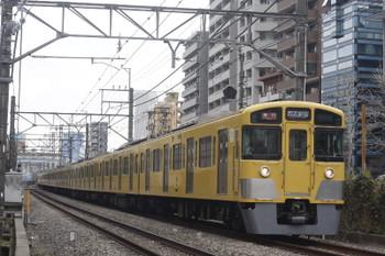 2017年2月27日、高田馬場~下落合、2059F+2407Fの2332レ。