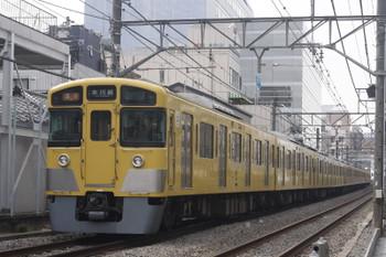 2017年3月1日、高田馬場~下落合、2515F+2527F+2455Fの2643レ。