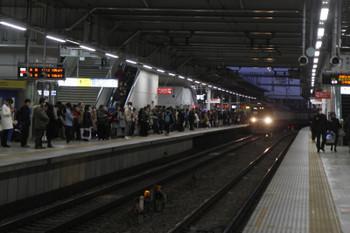 2017年1月28日 17時13分頃、所沢、上り3番ホームへ到着する9103Fの下り列車。