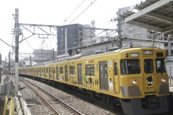 2017年3月18日 11時37分頃、狭山市、通過する2007Fの下り回送列車。