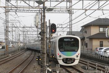 2017年3月20日、西所沢、発車した38111Fの4354レ。
