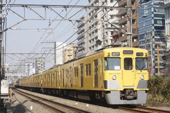 2017年3月30日、高田馬場~下落合、2407F+2007Fの4608レ。