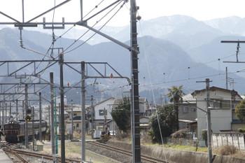 2017年3月25日 11時28分、西武秩父、影森方から到着するSL列車の回送。