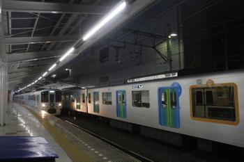 2017年5月4日 18時56分頃、飯能、4番ホームから発車した4009Fの上り列車と特急ホームに到着した40101Fの403レ。