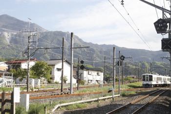 2017年5月4日、西武秩父、秩父鉄道の三峰口駅から到着する4005F(あの花)の秩父鉄道S6レ。