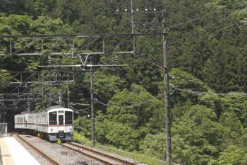 2017年5月20日 10時22分頃、芦ヶ久保、到着する4023Fの上り回送列車。