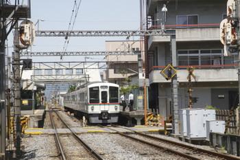 2017年5月20日 12時3分頃、御花畑、秩父駅から戻って来た4023Fの回送列車。