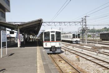 2017年5月20日 12時56分頃、秩父、リレー5号の各停 長瀞ゆき4023Fと1003レで長瀞駅へ行っていたはずの4001F。