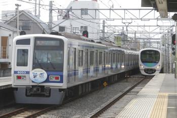 2017年5月27日 15時12分頃、東長崎、通過する6153Fの臨時急行 西武球場前ゆき。右は(<-飯能)32101F+38109Fの上り回送列車。